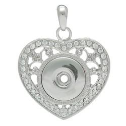 Fako Bijoux® - Kettinghanger - Click Buttons - Hart