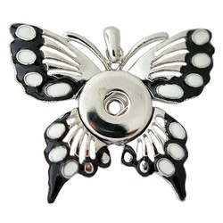 Fako Bijoux® - Kettinghanger - Click Buttons - Vlinder