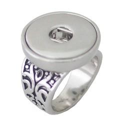 Fako Bijoux® - Ring Voor Click Buttons - Retro Model 2