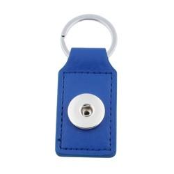Fako Bijoux® - Sleutelhanger Voor Click Buttons - Leder Tag Donkerblauw