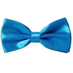 Fako Fashion® - Kinder Vlinderstrik - Vlinderdas - Effen - 10cm - Blauw