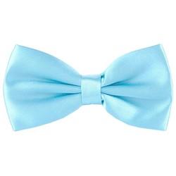 Fako Fashion® - Kinder Vlinderstrik - Vlinderdas - Effen - 10cm - Lichtblauw