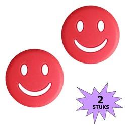 Fako Bijoux® - Tennisdemper - Emoji - Smile Rood - 2 Stuks