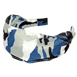 Fako Fashion® - Diadeem - Camouflage/Army - Blauw/Grijs