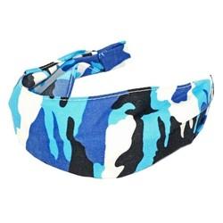 Fako Fashion® - Diadeem - Camouflage/Army - Blauw/Zwart