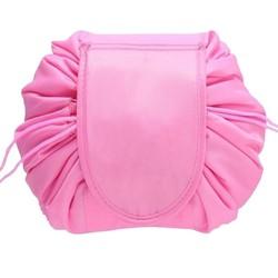 Fako Fashion® - Magic Travel Pouch - Cosmetic Opberg Tas - Make-up Opbergsysteem - Make-up Toilettas - Reistas - Cosmetica Accessoires Organiser - Handige Toilettas - Roze
