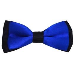 Fako Fashion® - Kinder Vlinderstrik - Vlinderdas - Duo Tone - 10cm - Royal Blauw