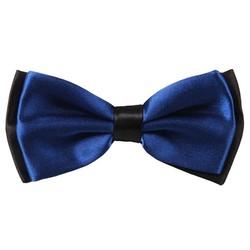 Fako Fashion® - Kinder Vlinderstrik - Vlinderdas - Duo Tone - 10cm - Donkerblauw