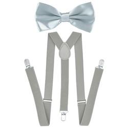 Fako Fashion® - Bretels Met Vlinderstrik - Effen - 100cm - Lichtgrijs