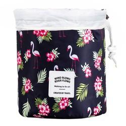 Fako Fashion® - Make Up Tas - Cosmetica Organizer - Reistas - Toilettas - Flamingo Zwart