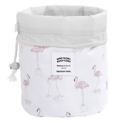 Fako Fashion® - Make Up Tas - Cosmetica Organizer - Reistas - Toilettas - Flamingo Wit
