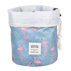 Fako Fashion® - Make Up Tas - Cosmetica Organizer - Reistas - Toilettas - Flamingo Blauw