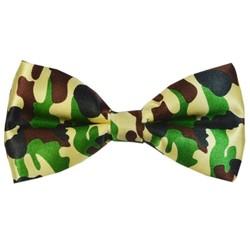 Fako Fashion® - Vlinderstrik - Vlinderdas - Print - 12cm - Camouflage Groen