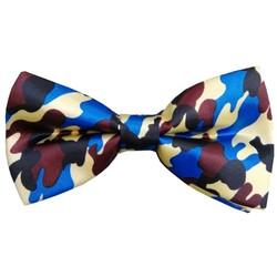 Fako Fashion® - Vlinderstrik - Vlinderdas - Print - 12cm - Camouflage Geel