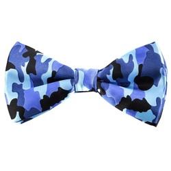 Fako Fashion® - Vlinderstrik - Vlinderdas - Print - 12cm - Camouflage Blauw