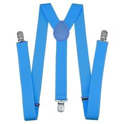 Fako Fashion® - Bretels - Effen - 100cm - Lichtblauw