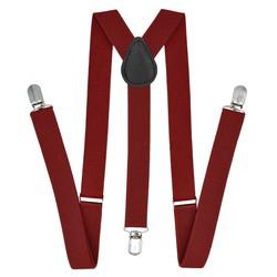 Fako Fashion® - Bretels - Effen - 100cm - Donkerrood