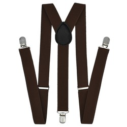 Fako Fashion® - Bretels - Effen - 100cm - Donkerbruin