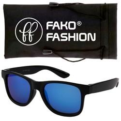 Fako Fashion® - Kinder Zonnebril - Wayfarer - DLX - Spiegel Blauw