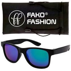 Fako Fashion® - Kinder Zonnebril - Wayfarer - DLX - Spiegel Blauw/Groen