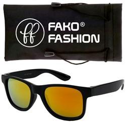 Fako Fashion® - Kinder Zonnebril - Wayfarer - DLX - Spiegel Goud/Rood