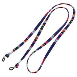 Fako Bijoux® - Brillenkoord - Inka - 70cm - Donkerblauw/Rood
