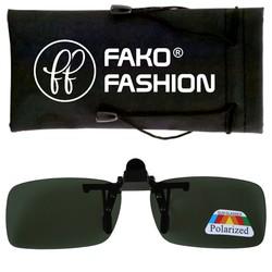 Fako Fashion® - Clip On Voorzet Zonnebril - Polarized - 134x43mm - Groen