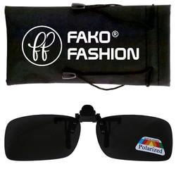 Fako Fashion® - Clip On Voorzet Zonnebril - Polarized - 134x43mm - Grijs