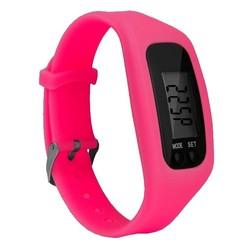 Fako® - Horloge - LCD - Stappenteller - Gesp - Fuchsia