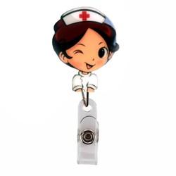 Fako Bijoux® - Badge Houder - Rolspeld - Verpleegster - Knipoog