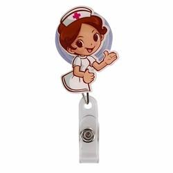 Fako Bijoux® - Badge Houder - Rolspeld - Verpleegster - Handje