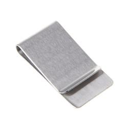 Fako Bijoux® - Geldclip - Moneyclip - RVS - Breed - 50x26mm - Geborsteld