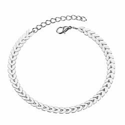 Fako Bijoux® - Enkelbandje - Arrow - Zilverkleurig