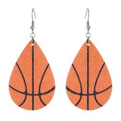 Fako Bijoux® - Oorbellen - Druppel - Kunstleer - Basketbal