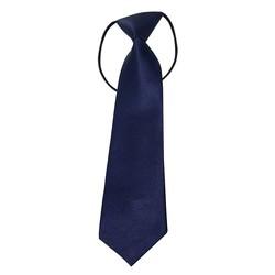 Fako Fashion® - Kinderstropdas - Effen - Elastiek - Navy Blauw