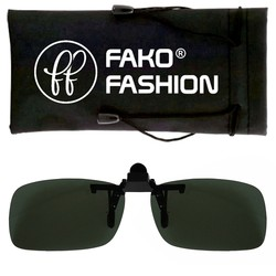 Fako Fashion® - Clip On Voorzet Zonnebril - Small - 125x33mm - Groen