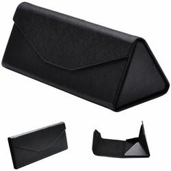 Fako Bijoux® - Brillenkoker - Opvouwbaar - 16x7x6.5cm - Zwart