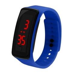 Fako® - Kinderhorloge - LED Digital - Donkerblauw