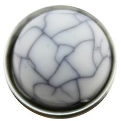 Fako Bijoux® - Click Button - Acryl - Wit