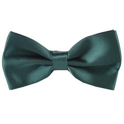 Fako Fashion® - Vlinderstrik - Vlinderdas - Satijn - 12.5cm - Donkergroen