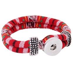 Fako Bijoux® - Armband Voor Click Buttons - Inka - Rood