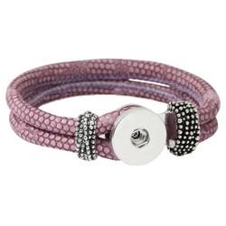 Fako Bijoux® - Armband Voor Click Buttons - Slang - Lila Paars
