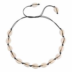 Fako Bijoux® - Ketting - Schelpjes - 70cm - Zwart
