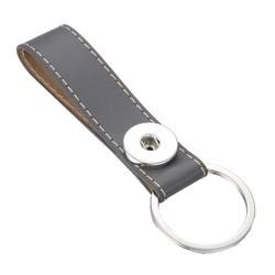 Fako Bijoux® - Sleutelhanger Voor Click Buttons - Single Bruin