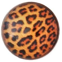 Fako Bijoux® - Click Button - Glas - Luipaard