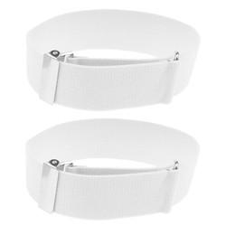 Fako Bijoux® - Mouwophouders - Elastisch - Per Paar - 2 Stuks - Wit
