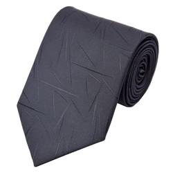 Fako Fashion® - Luxe Stropdas - 145cm - 8cm - Zwart Streepjes