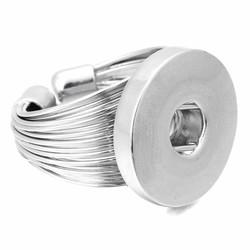 Fako Bijoux® - Ring Voor Click Buttons - Open - Deluxe