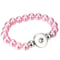 Fako Bijoux® - Armband Voor Click Buttons - Kralen - Roze