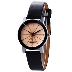 Fako® - Horloge - Black Ivory Quartz - Ø 31mm - Zwart & Crème